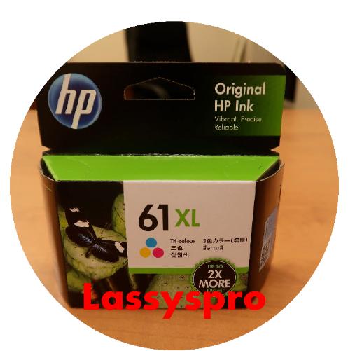 HP 61XL T-color High Yield Original Ink Cartridge - Inkjet -