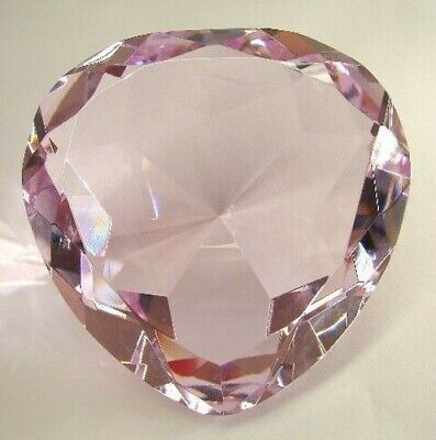 60mm Feng Shui Forma Corazón Rosa Cristal