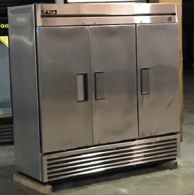 Used True Stainless Steel Solid Door Freezer