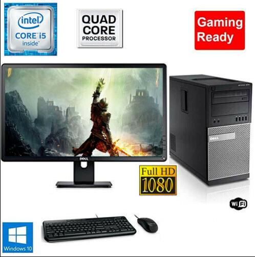 Computer Games - Gaming PC Desktop Computer i5 8GB 240GB SSD+1TB Win10 WIFI +Keyboard
