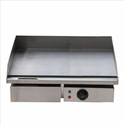 3kw 55cm Electric Griddle Grill Hot Plate Stainless Steel Commercial Bbq Grill Y