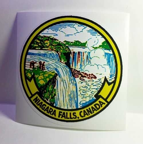 Niagara Falls Canada Vintage Style Travel Decal / Vinyl Sticker, Luggage Label