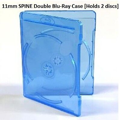 11mm Replacement double blu-ray case (holds 2 discs) - NEW