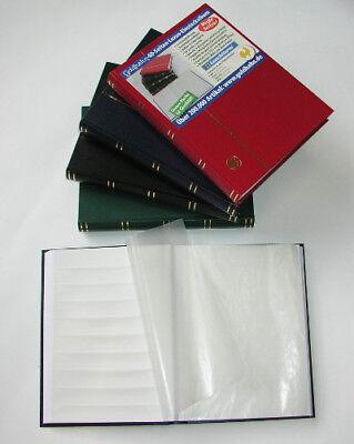 GOLDHAHN-Luxus-60 weiße Seiten A4 Briefmarkenalbum Einsteckbuch Einsteckalbum