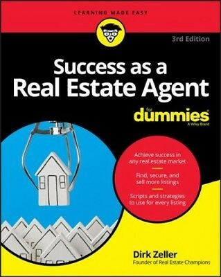 Success As a Real Estate Agent for Dummies, Paperback by Zeller, Dirk, Like (Success As A Real Estate Agent For Dummies)