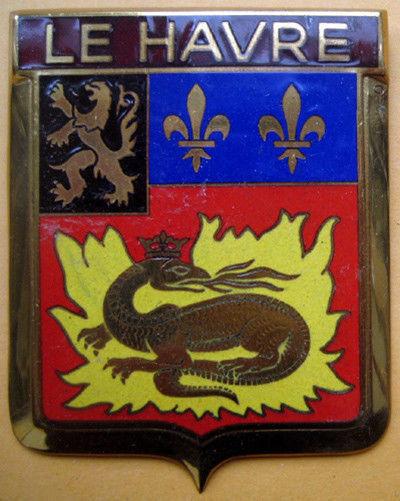Badge auto car drago 1950s original Le Havre France French 910