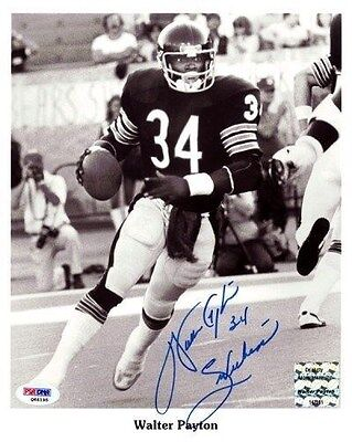 WALTER PAYTON AUTOGRAPHED SIGNED 8X10 PHOTO CHICAGO BEARS