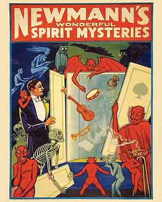 British Circus Imperator 1930s Vintage Style Unusual Magician Poster 16x24
