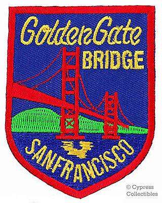 GOLDEN GATE BRIDGE embroidered patch SAN FRANCISCO SOUVENIR IRON-ON APPLIQUE