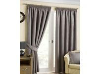 Large Grey Curtains with blackout lining (Fits bedroom window at Stoke Quay)