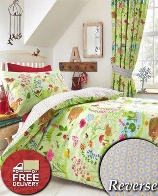 Bettwäsche Vorhänge (Wald Tiere Bettbezug Wende Kinder Kinder Bett Bettwäsche Set Vorhänge)