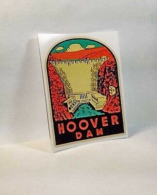 Hoover Dam Vintage Style Travel Decal Vinyl STICKER Luggage Label
