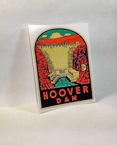 Hoover Dam Vintage Style Travel Decal Vinyl STICKER Luggage Label