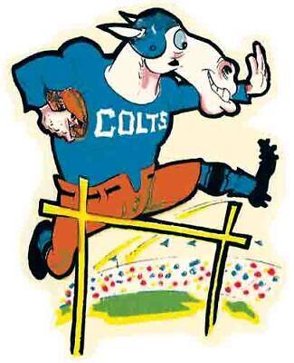 Baltimore Colts   NFL AFL Football 1960's  Vintage Looking Sticker Decal Baltimore Colts Nfl Football