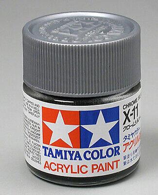 Tamiya Acrylic X11 Chrome Silver 3/4 oz 81011