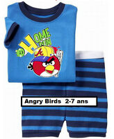 Pyjamas couts,  Neufs Angry Birds, 2 à 7 ans