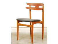 Set of four teack chairs model 178 by Johannes Andersen, Denmark 1960's