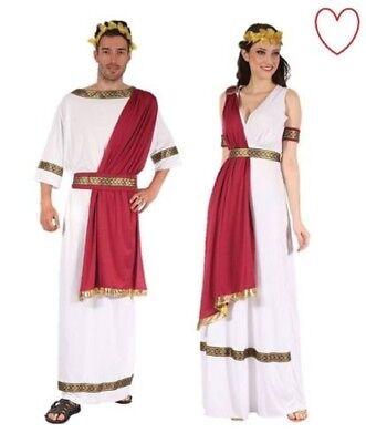 Herren Damen Griechischer Gott Göttin Kostüm Kleid Outfit Römisch ägyptisch