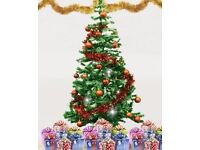 5-foot Christmas tree with plastic stand