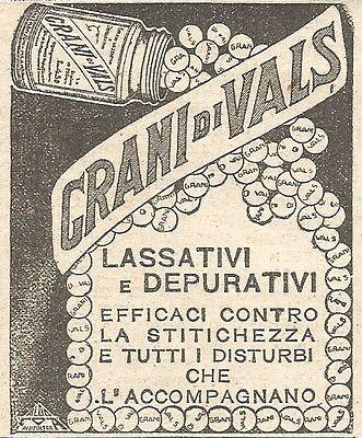 W2396 Grani di Vals - Lassativi - Pubblicità del 1930 - Vintage advertising