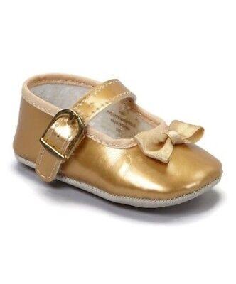 Patent Mary Jane Gold Krippe Schuhe- Schön! Kleinkinder Größen 0-3 Neu Pitter Patent Mary Jane Schuhe