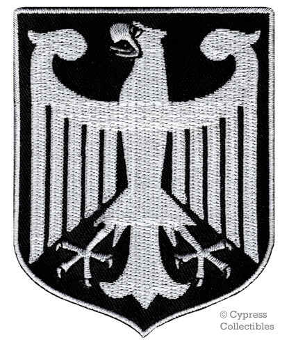BLACK GERMAN embroidered PATCH GERMANY iron-on Bundesadler Aufnäher Deutschland