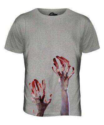 Zombie Manos Camiseta Estampada para Hombre Top Sangre Disfraz de Halloween