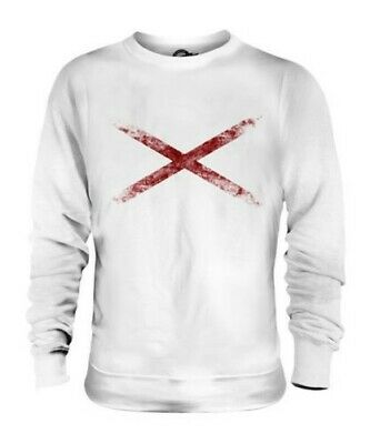 Alabama Sweatshirt (Alabama State Distressed Flagge Unisex Pullover Top Alabamian Geschenk T-Shirt)
