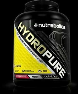 NUTRABOLICS Hydropure (4.5Lbs, 75 Servings) Hydrolyzed WHEY PROTEINES 93% PURE