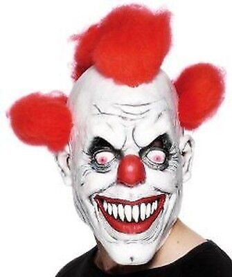 Clown Maske Herren Damen Halloween Zombie Clown Kostüm Zubehör (Damen Zombie Clown Kostüm)