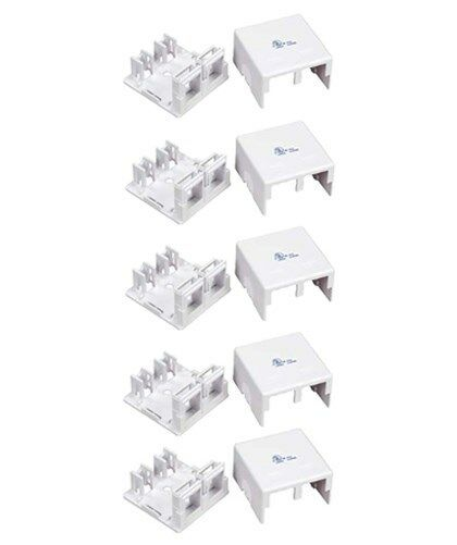 1-Port Blank Modular Wall Surface Mount Box for Snap-in Keystone Jack Insert