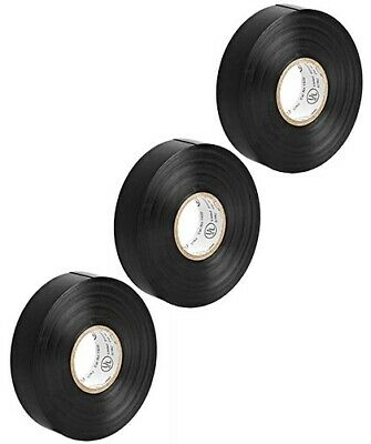 3x 65ft 0.75 Inch 34 Pvc Vinyl Electrical Electricians Insulated Tape Black