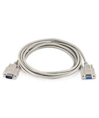 10ft Null Modem Serial RS 232 DB 9 DE 9 Male to Female Molded Cable PC DTE DCE