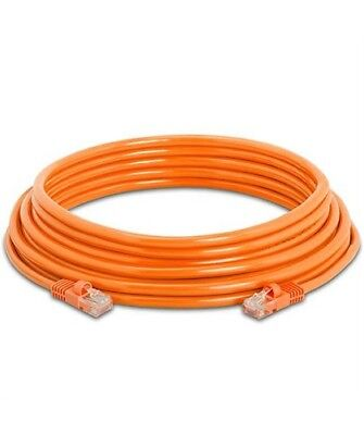 25Ft Cat5E RJ45 Network LAN Router Ethernet Internet Patch Cable Cord CCA Orange ()