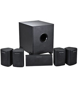 5.1 Speaker Home Theater Surround Sound System 5 Satellite Speakers 1 Subwoofer