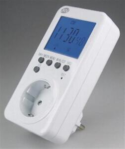 Zeitschaltuhr, digital mit Funk-Uhrzeit NEU 28 Schaltzeiten / Woche inkl. Akku