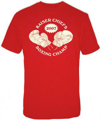 Champ Fitted T-shirt (Kaiser Chiefs Boxing Champ mens fitted t-shirt red)