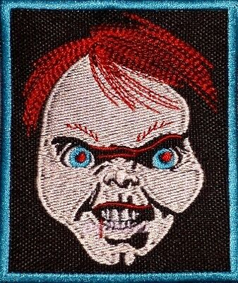 Chucky Face Embroidered Patch Horror Movie Child's Play Killer Doll Seed Bride