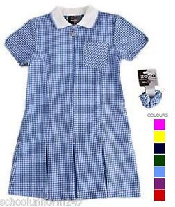 LARGE-SIZE-SCHOOL-SUMMER-GINGHAM-DRESSES-SCHOOL-WEAR-UNIFORM-SIZE-36-38-40