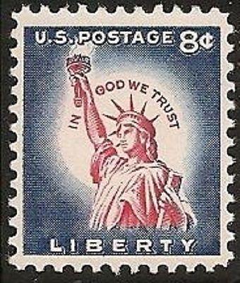 US 1041 STATUE OF LIBERTY 8C SINGLE MNH 1954