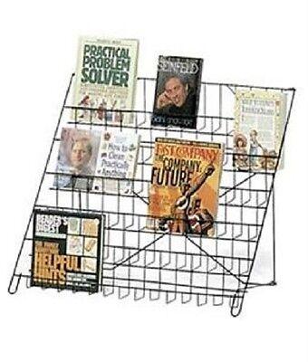 Rack Literature Display Black Wire 6-tier Countertop Brochure Books Dvd Cd