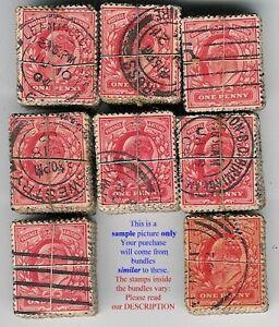 GB-KE7-1902-11-Penny-Red-VINTAGE-KILOWARE-BUNDLE-100-stamps