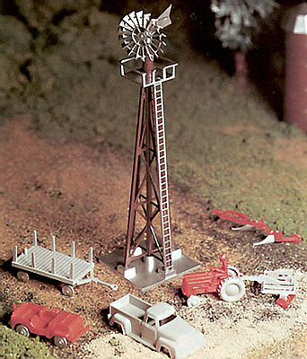 NEW Bachmann Windmill w/Farm Machine Kit O 45603