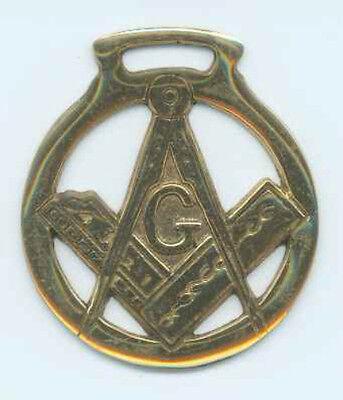 """G"" MASONIC Horse brass (N1105)"