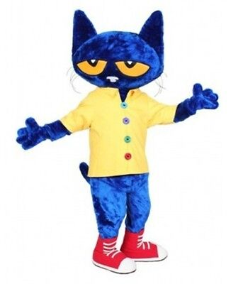 high quality Blue cat mascot cartoon doll clothes commercial promotional props (Commercial Halloween Props)