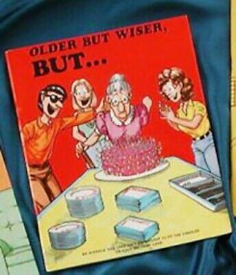 OLDER BUT WISER Adult Coloring Book w Jokes Comic Book Gift Seniors Older People - Adult Joke Comics