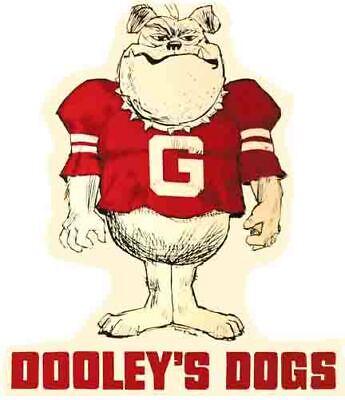 03a3e4b9 University of Georgia UGA Vintage Looking Bulldog Travel Decal Sticker  DOOLEY