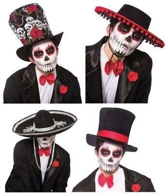 Tag der Toten Mariachi Band Hut Kostüm Mexikanisch Spanisch Halloween Erwachsene