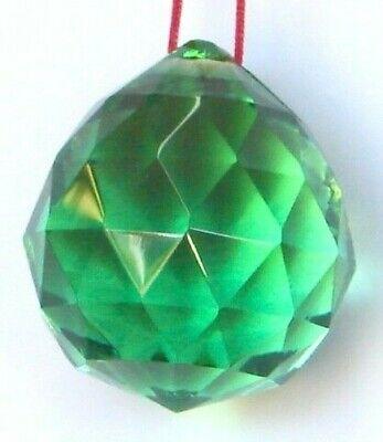 30mm Feng Shui Verde Colgante Cristal Bola