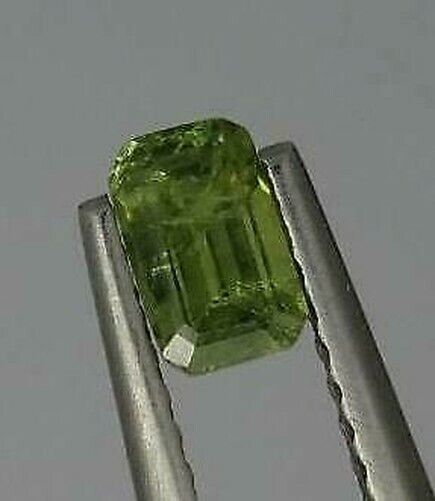 Genuine 0.52ct Loose Green Natural Demantoid Garnet Octagon Cut Gem